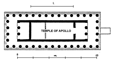 Floor plan of the temple of Hephaestus